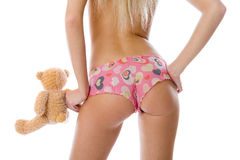 Close-up back and ass of beautiful woman. Royalty Free Stock Image