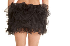 Close up back black tutu Stock Photography
