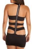 Close up back black zipper Royalty Free Stock Photography