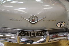 Close-up on the back of a classic car Panhard-Cadillac of the beginning of the twentieth century. Stock Photos