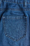 Close up of back jeans pocket Royalty Free Stock Photos