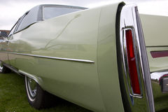 Close up of back of an old American car Royalty Free Stock Photography