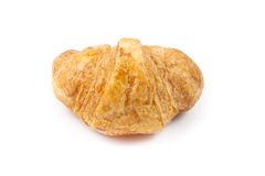 Close up back side croissant. On white background Royalty Free Stock Photo
