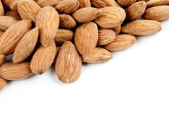 Close-up background almonds Royalty Free Stock Photo