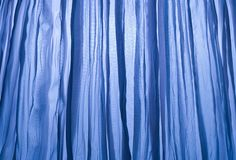 Close Up Background Of Blue Curtain Texture Royalty Free Stock Image