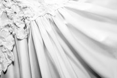 Close Up background of bridal dress Stock Photo