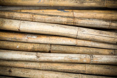 Close up background of dry thick bamboo poles Stock Photography