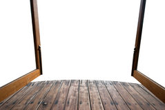Close up background of old wooden bridge floor Royalty Free Stock Image