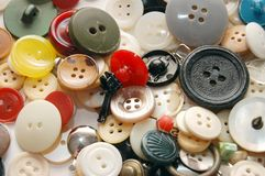 Close up background from various buttons Royalty Free Stock Photography