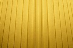 Close Up Background of Yellow Pleated Textile Texture royalty free stock image