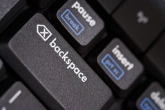 Close up of a backspace key stock photos