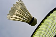 Close-up badminton Stock Images