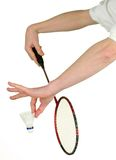 Badminton serve Stock Images