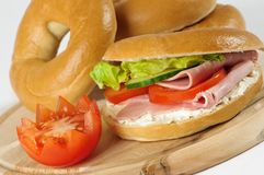 Close Up Bagels Stock Images