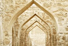 Close up of Bahrain Castle indoor nice view in sunny day royalty free stock photography
