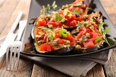 Baked aubergine Royalty Free Stock Images