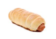 Close up of baked hot dog. Stock Image