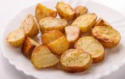 Close up of  baked potato wedges Stock Photo