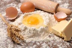Baking food ingredient. Close up on baking food ingredient royalty free stock photography