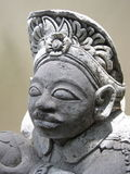 Close-up of Bali Statue. Detail of garden statue in Bali Royalty Free Stock Photos
