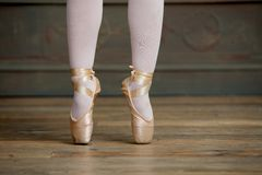 Ballerina Standing on Tiptoes Royalty Free Stock Photo