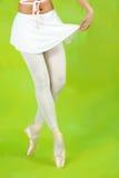 Close up of ballerinas legs Royalty Free Stock Photo