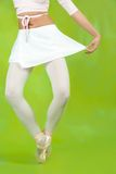 Close up of ballerinas legs Stock Images