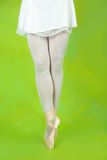 Close up of ballerinas legs Stock Photo