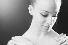 Close Up Of A Ballet Dancer Ballerina Stock Photo