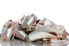 Close-up ballet pointe. Close-up ballet  pastel pointe Royalty Free Stock Photo