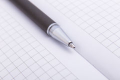 Close-up of ballpoint. Focus on tip Stock Photography