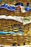 Close up bamboo basket Royalty Free Stock Photos