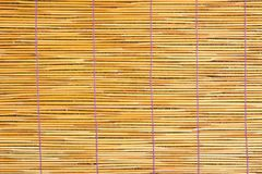 Close up of bamboo blind texture Stock Images