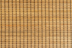 Close up of bamboo blind texture Royalty Free Stock Images