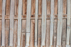 Close up bamboo fence background Royalty Free Stock Images