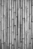 Close-up of bamboo fence, black and white Stock Photo