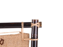 Close up of bamboo frame. Royalty Free Stock Photo