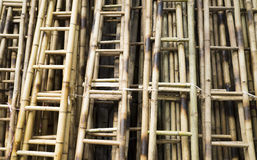 Close up of bamboo ladders Royalty Free Stock Images