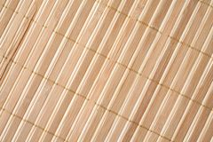 Close up of bamboo mat Royalty Free Stock Images