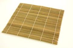 Close up of bamboo mat background. Stock Image