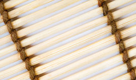 Close up of bamboo mat background Stock Photo