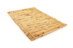 Close up of bamboo mat background with clipping pa. On substances such as food supplies could be used pahtk studio photo Royalty Free Stock Photography