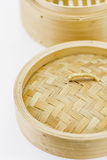 Close up bamboo steamer Stock Photography