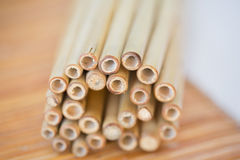 Close up of bamboo sticks Royalty Free Stock Photography