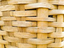 Close up of bamboo weaving basket stock image