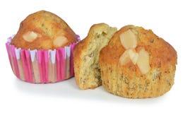 Close up banana cupcake Stock Photography