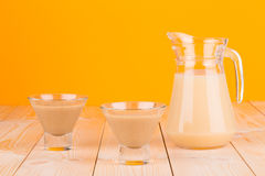 Close up of banana juice. Stock Images