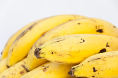 Close up banana on white backgound Stock Photography