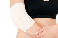 Close-up of bandaging Stock Images
