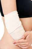 Close-up of bandaging Stock Photos